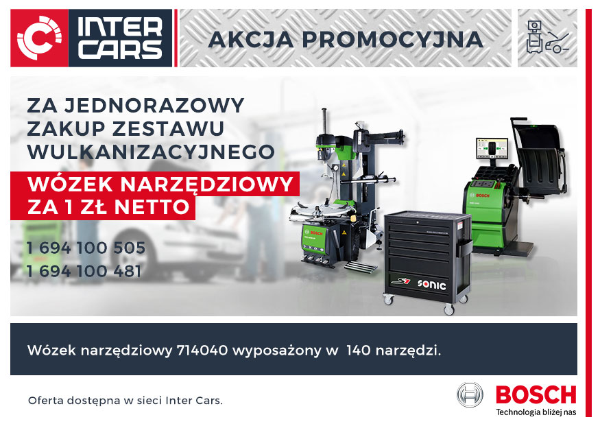 Promocja wulkanizacyjna Bosch - wózek narzędziowy za 1 zł netto