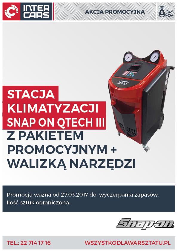 Stacja klimatyzacji SNAP ON QTECH III z Pakietem Promocyjnym i walizką narzędzi